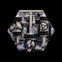 Mechanical Machine Hexagon Icon