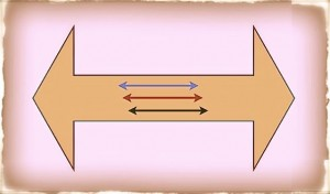 Two-way arrows graphic