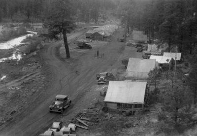 Co. 842, Buffalo Crossing camp under construction - June1934