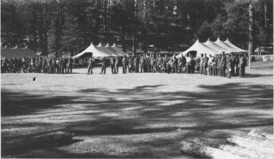 Co. 823, Chow line at Hart Canyon June 1933