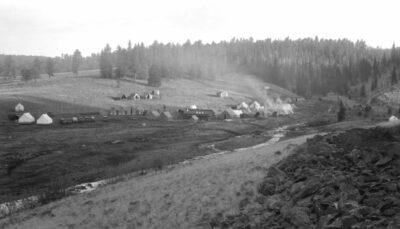 Co. 1830-V, F-55 Camp Three Forks Springerville AZ - 1934 White Mountains