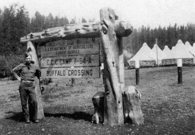 At TEx Co. 842 F-54-A Buffalo Crossing Camp Entrance Sign