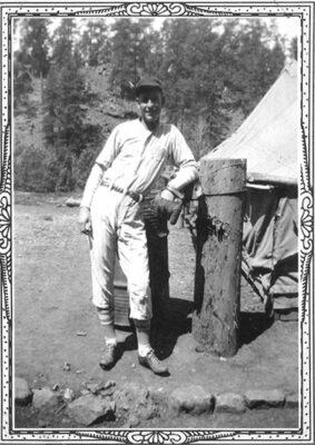 Co. 842 Gene Gaddy a proud member of the Blue Buffalo baseball team - 1938