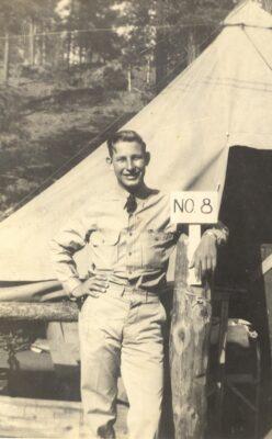 Co. 842, F-54-A Gene Gaddy at Buffalo Crossing Camp1938