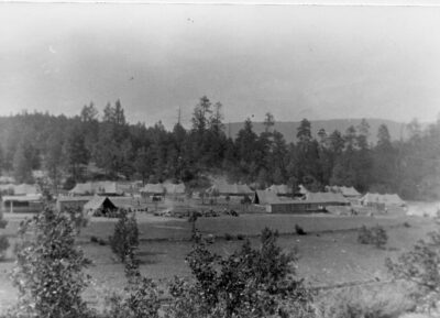 Indian Gardens camp looking north toward Mogollon Rim circa1934