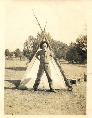 Marshall Wood at side camp