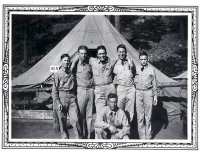 New recruit Eugene Gaddy standing second from the right 1938
