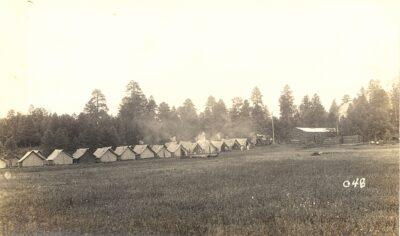 Long view of tents at Los Burrow comp, June 1833
