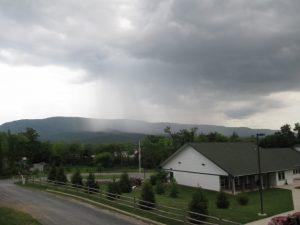 Massanutten Mountain rain