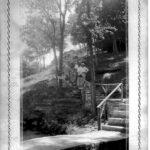 Visitors enjoying a walk down the CCC built steps