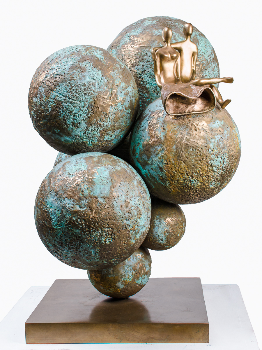 Our Universe, bronze sculpture by Beatriz Gerenstein