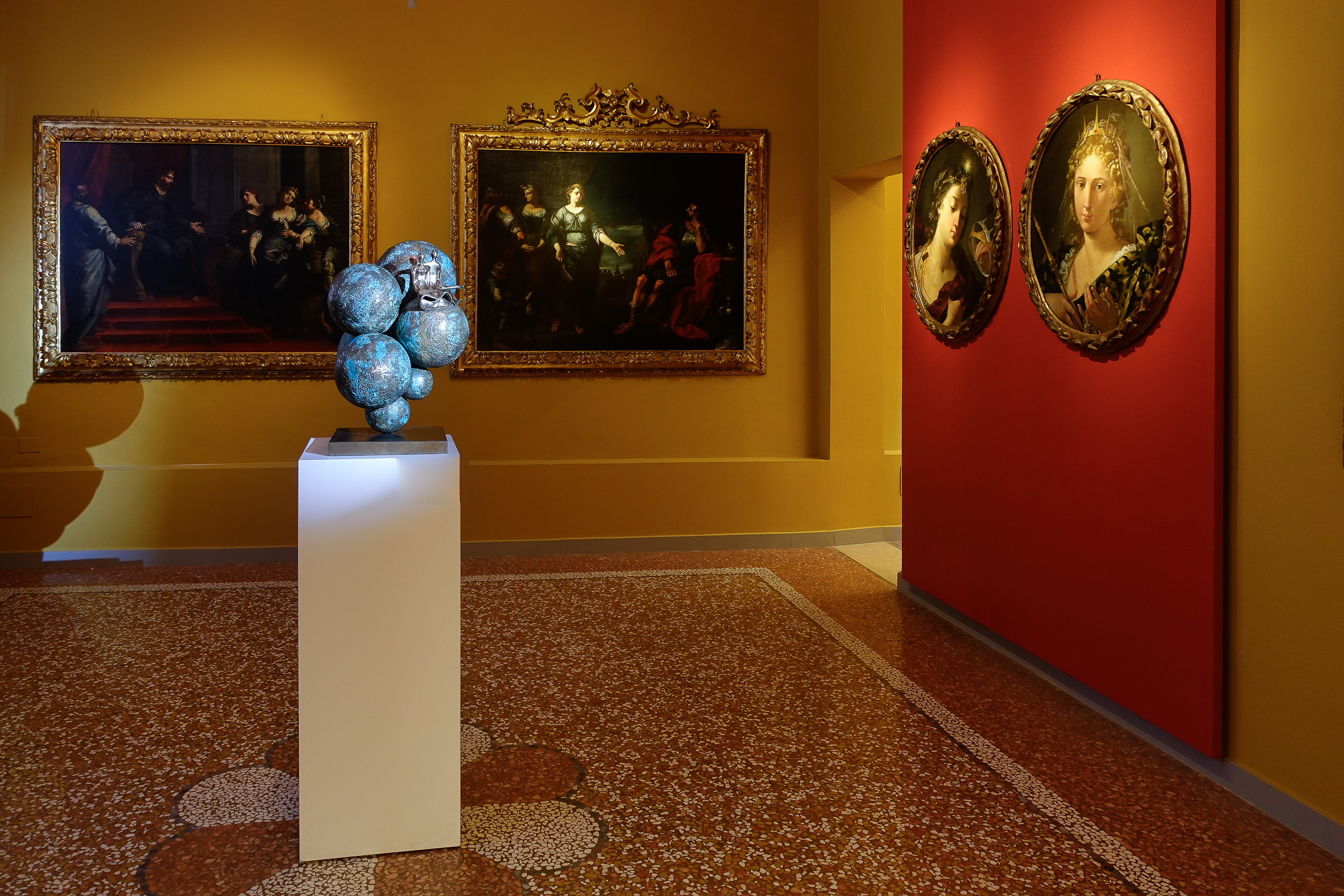 Our Universe, sculpture by Beatriz Gerenstein at the Museum La Quadreria in Bologna Italy