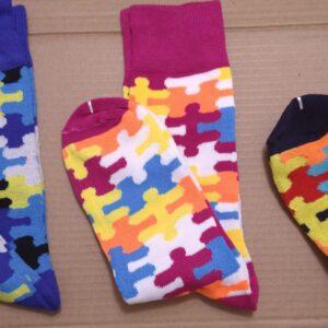 Puzzle Print Socks