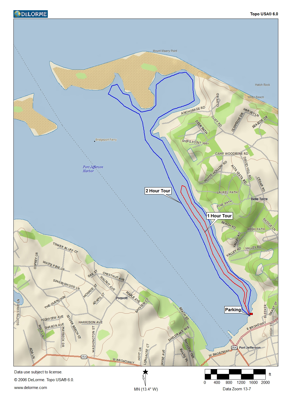 Kayak Port Jeff Harbor