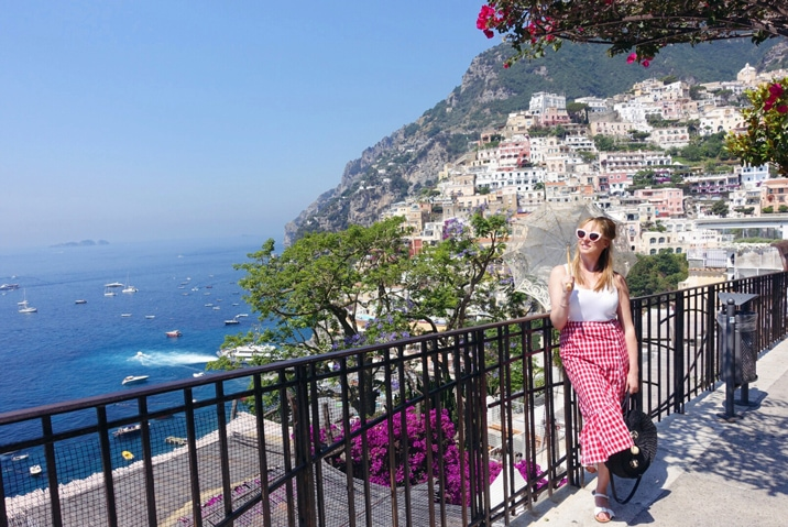 Claire Etchell, Naked PR Girl at Postiano, Italy
