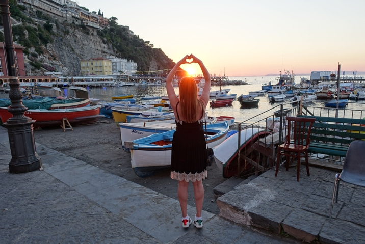 Claire Etchell, Naked PR Girl at Sorrento Harbour, Italy