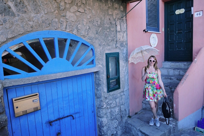 Claire Etchell, Naked PR Girl at Sorrento, Italy
