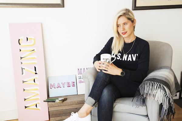 Daisy Emerson J Brand jeans and R13 jumper