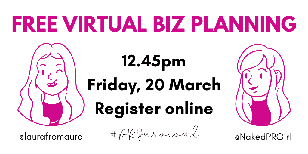 Free virtual business planning and PR support