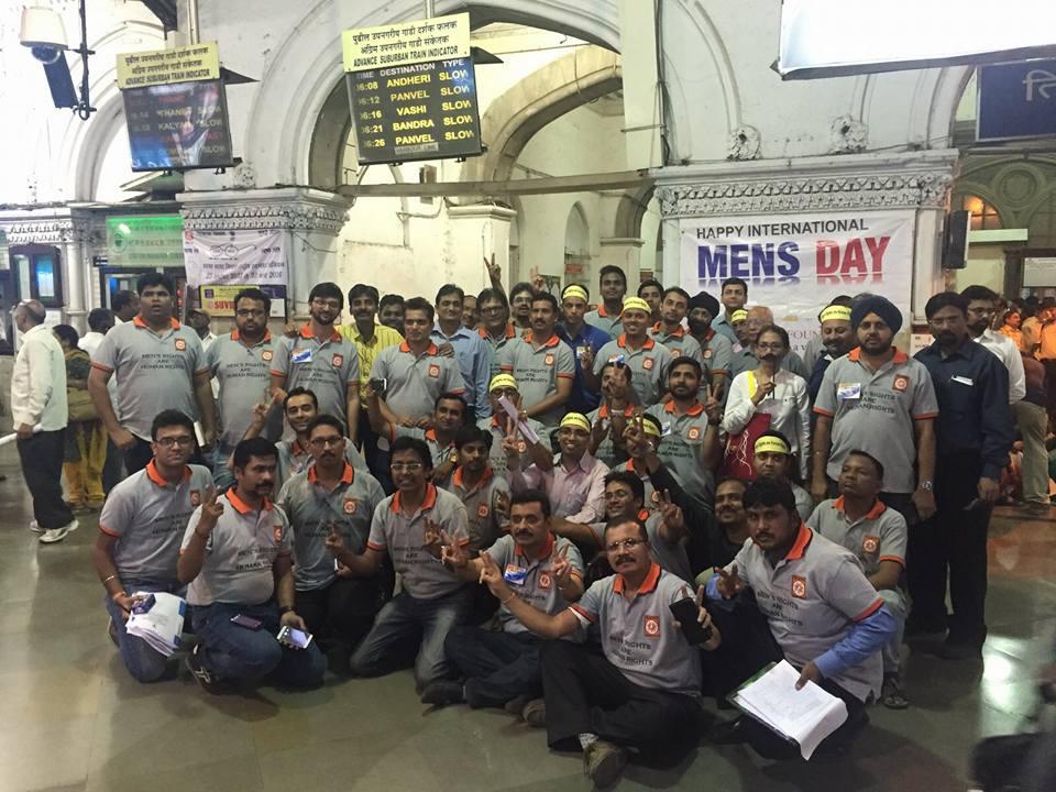 International Men's Day Celebration @CST Mumbai 2015