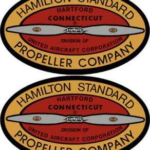 Hamilton Standard 1931-1939 Prop Propeller Decal (PAIR)