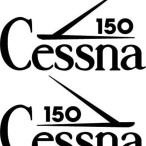 Cessna Wing Logo Tail Decal PAIR (2) 120 thru 195