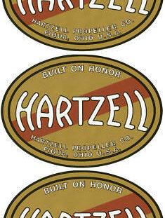 Hartzell Prop Decal Set of 3
