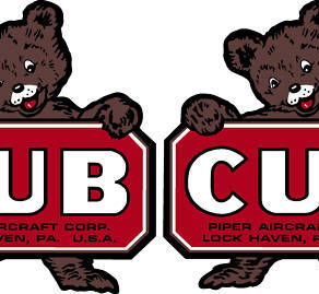 Piper Cub Logo Decal PAIR (2)
