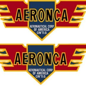 Aeronca Logo 30's Old Style Pair(2) Decal