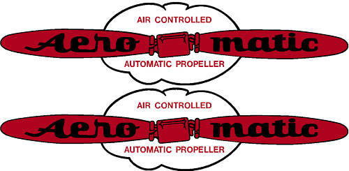 Aero Matic Prop Decal Pair (2)