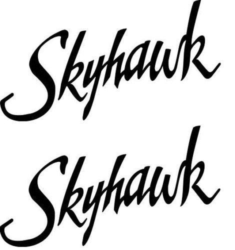 Cessna 172 Skyhawk Logo Decal PAIR (2)