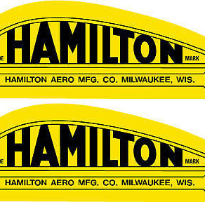 Hamilton Aero Mfg. Prop Decal PAIR (2)