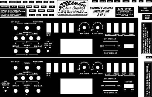 Grumman Cougar Interior Placard Kit