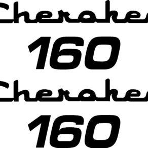 Piper Cherokee 160 Logo Decal PAIR (2)