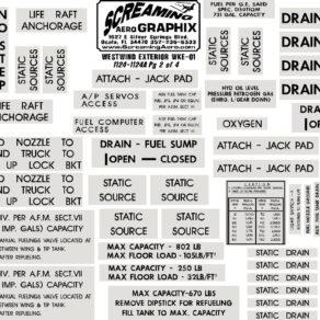 Westwind Exterior Placard Kit 1124-1124A