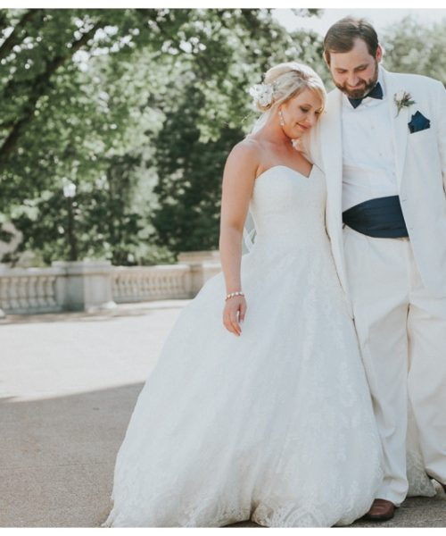 Bride and Groom at the Madison Capital
