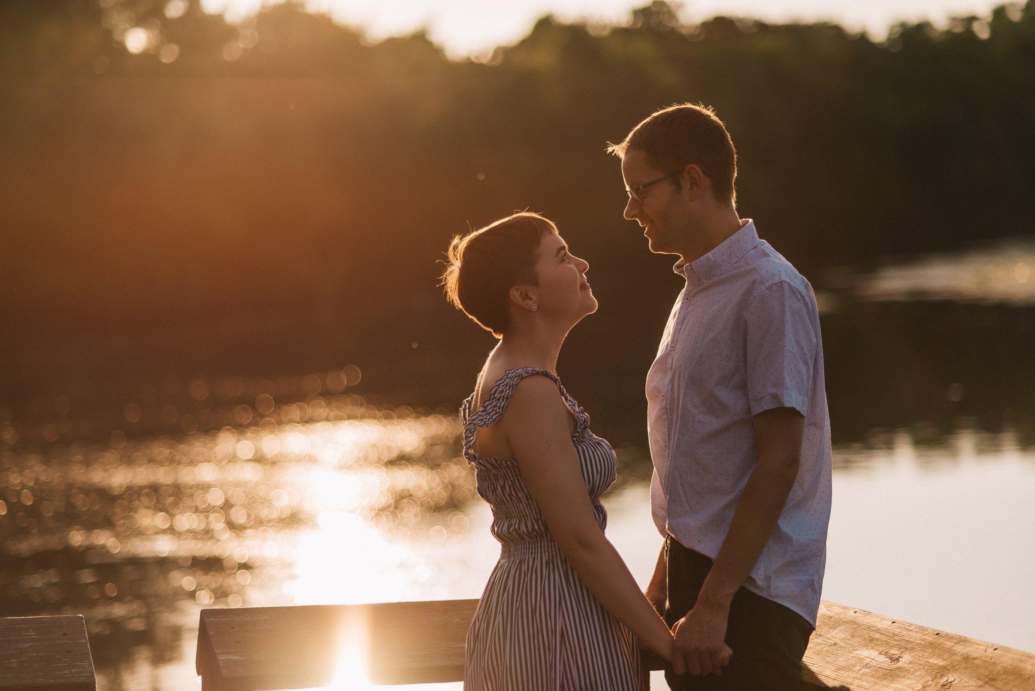 Stoughton Wisconsin Sunset Engagement