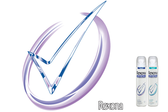 Gary Crossey - BRANDING: Logo Design for Rexona Crystal Logo