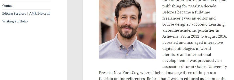 Asheville Website Design for Writer and Editor