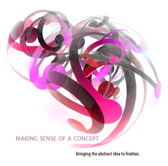 3D Logo Design - Asheville Graphic Design Sample - from concept to design