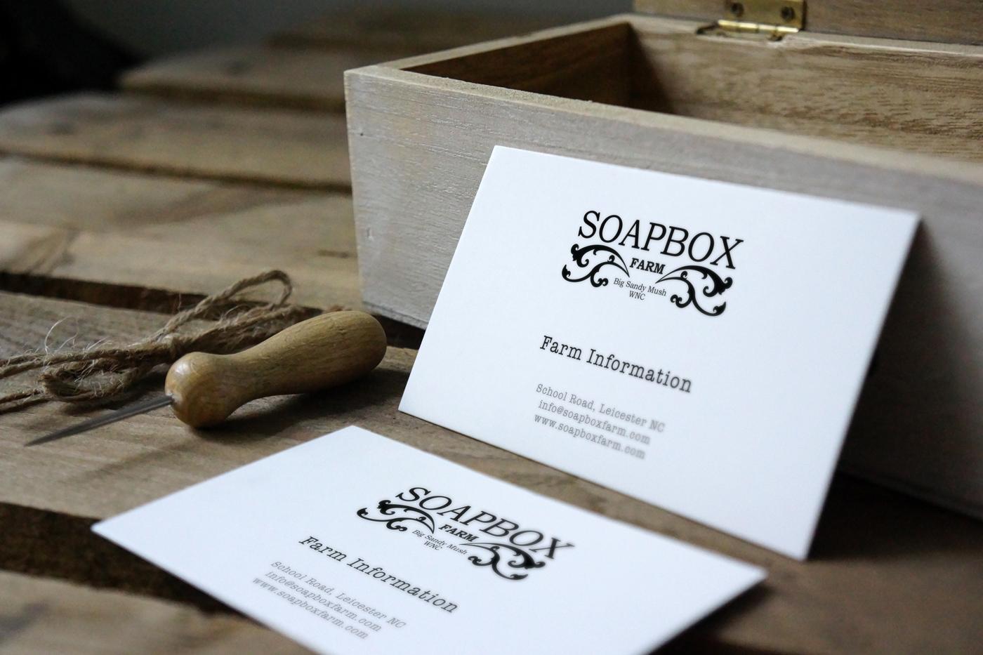 CLASSIC BUSINESS CARD Soapbox Farm