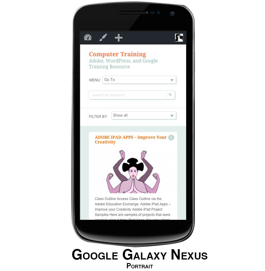 Websites on Smartphone