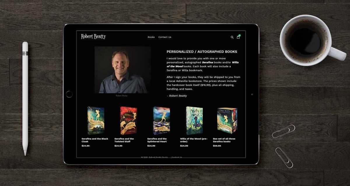 Website Design for Writer - Robert Beatty