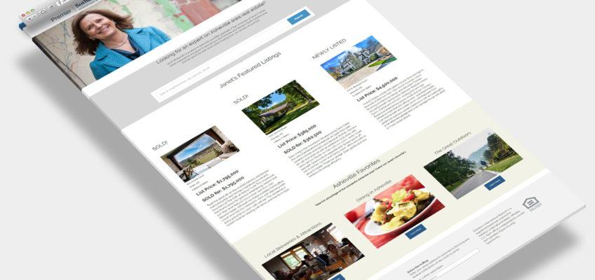 Web Design Sample Asheville Realtor