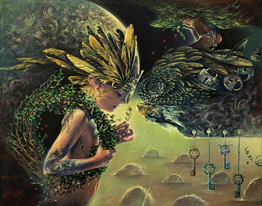 "Acrylic painting by Ulyana Turchenko. ""Mercurius"" [Acrylic on Canvas, 80cm x 100cm]"
