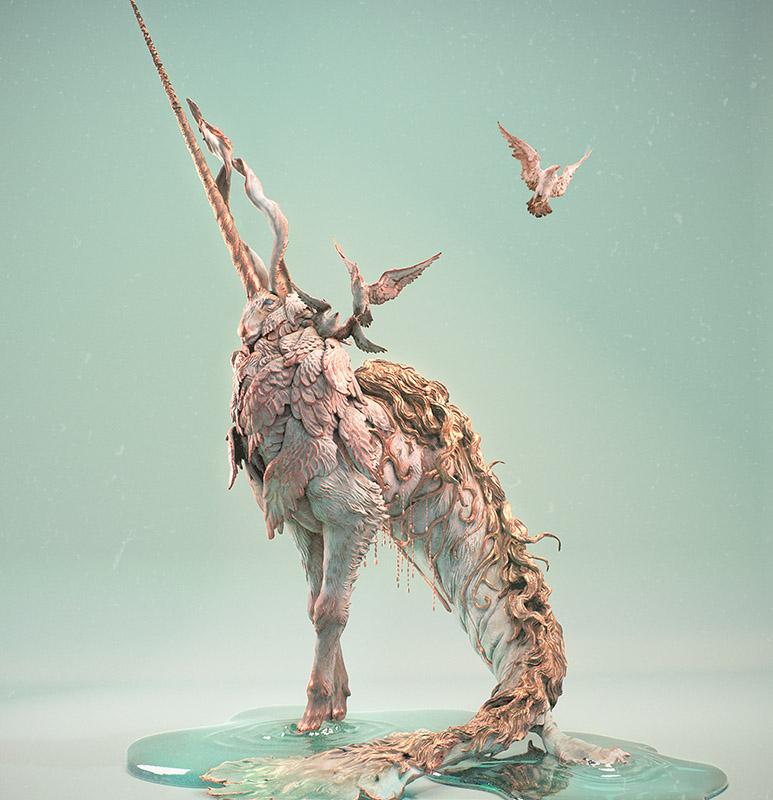 """Digital 3 Dimensional work by Yuuki Morita .""""Mother's"""" [Digital 3 Dimensional, Zbrush, Arnold in Maya]"""