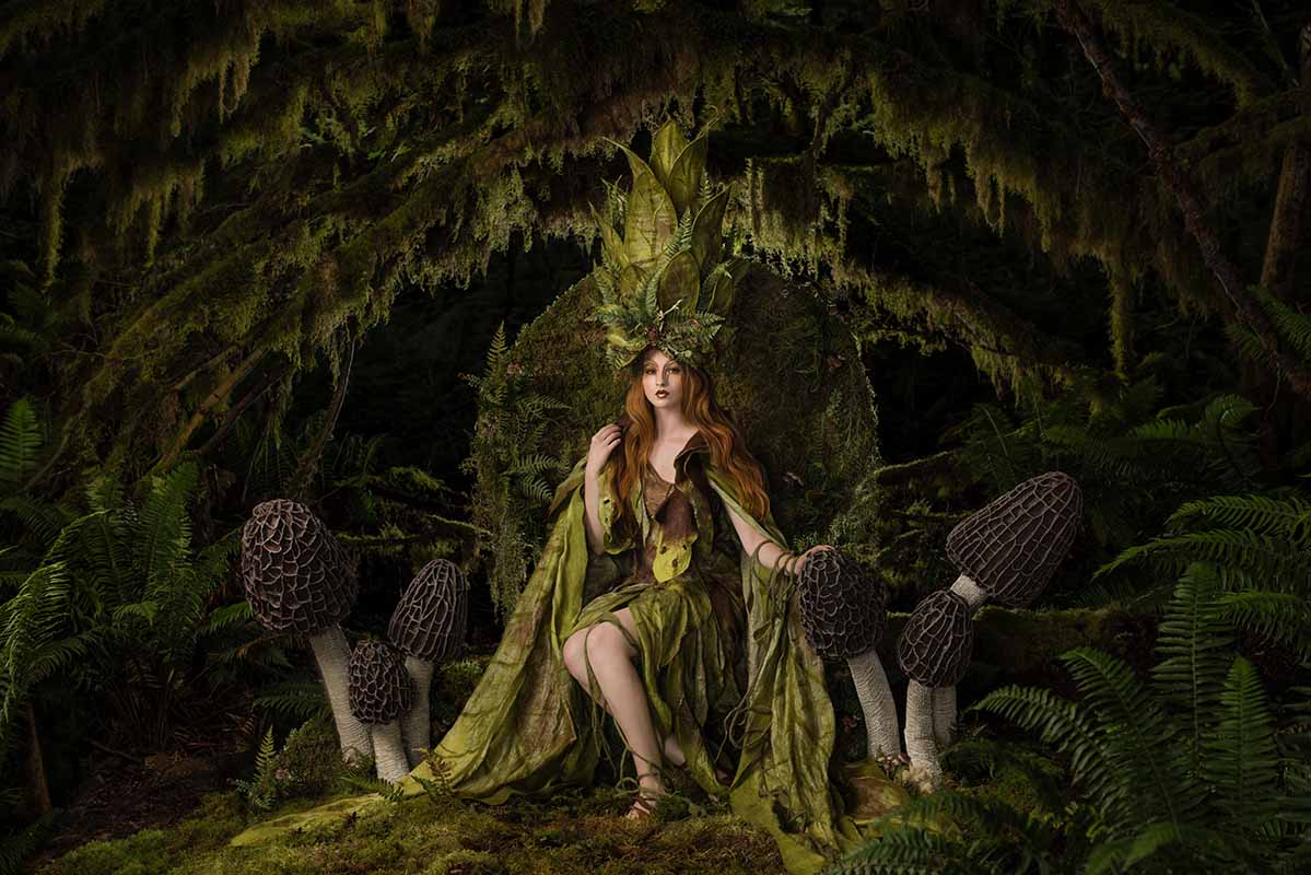 """Photograph by Hannah Dare Walker. """"Lo, the fairy queen has come indeed, where velvet moss and flower meet"""" [Digital Photography, Nikon D810, Sigma Art 50mm Lens, Profoto Lighting]"""