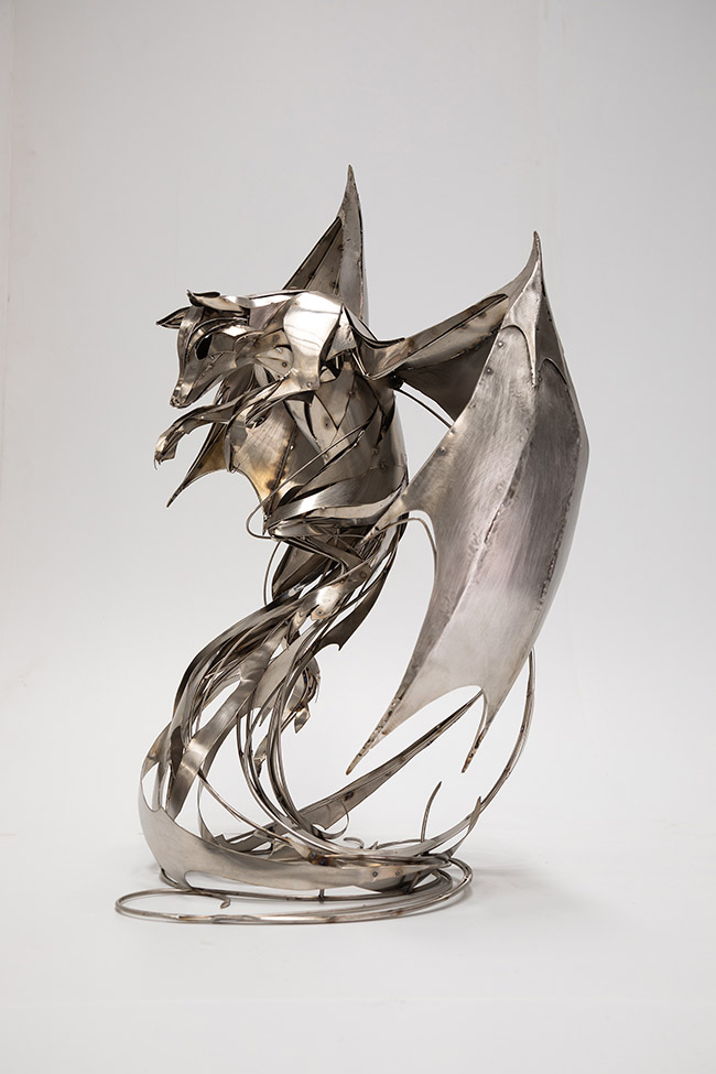"""Stainless Steel sculpture by Georgie Seccull. """"Transcendence"""", Stainless Steel, 95cm x 68cm x 60cm"""
