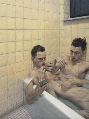 """Adam Lupton """"An Obvious Truth"""" surreal portrait figurative painting"""