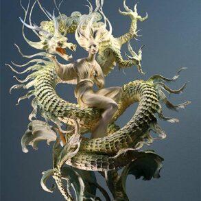 Forest-Rogers-sculpture-figure-dragon